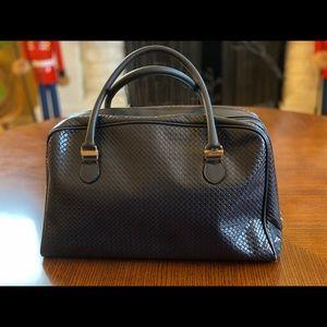 Vintage Ferragamo Leather Bowling Handbag